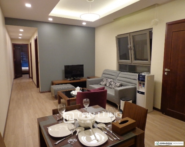 Serviced 2 bedroom apartment for rent on 535 Lane, Kim Ma, Ba Dinh 1