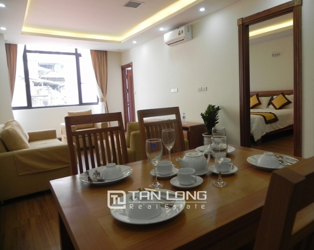 Serviced apartment with 1 bedroom for lease in Pham Ngoc Thach, Dong Da district 3