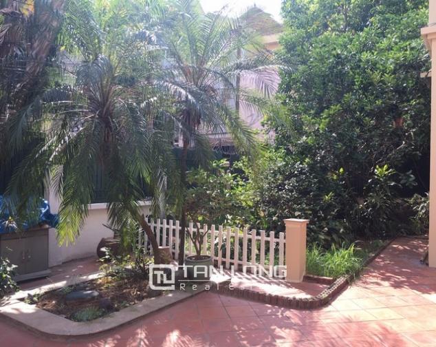 Spacious villa with 3 storeys, large garden in To Ngoc Van, Tay Ho for rent 3