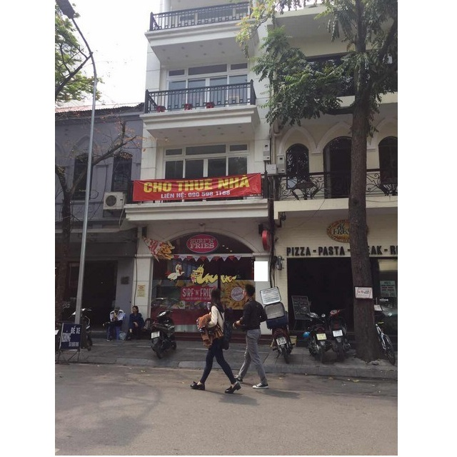 Street house in Nha Tho, Hoan Kiem district, Hanoi for rent