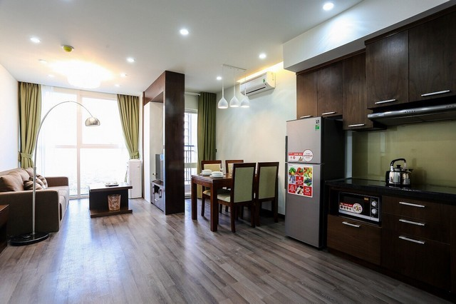Super new and modern 2 bedroom with full furnished serviced apartment for rent in Cau Giay district