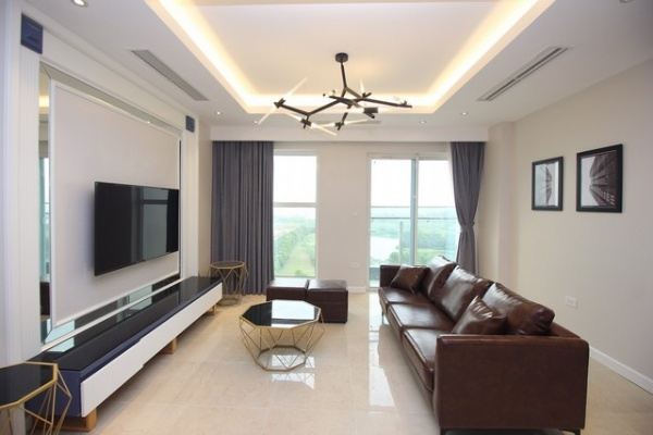 Super newly modern and golf view 3 bedroom apartment for rent in L4 tower The Link Ciputra