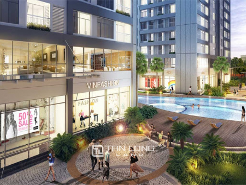 Swimming pool view shophouse for rent in Vinhomes Times City 1