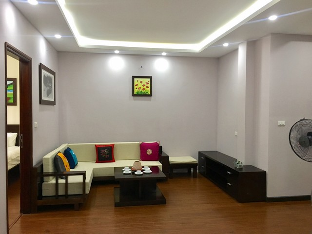The peaceful apartment in Au Co Street, Tay Ho dist., Hanoi for rent.