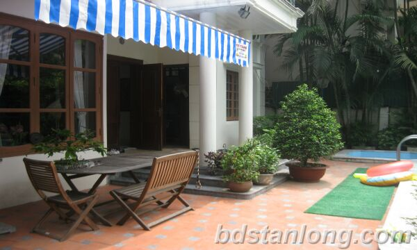 Villa for rent in Tay Ho Westlake Hanoi, swimming pool