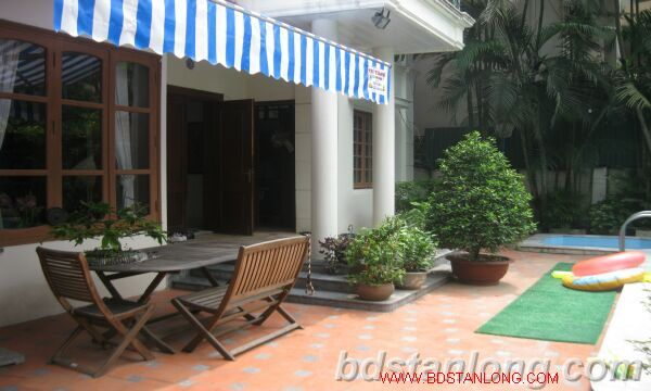 Villa for rent in Tay Ho Westlake Hanoi, swimming pool 3