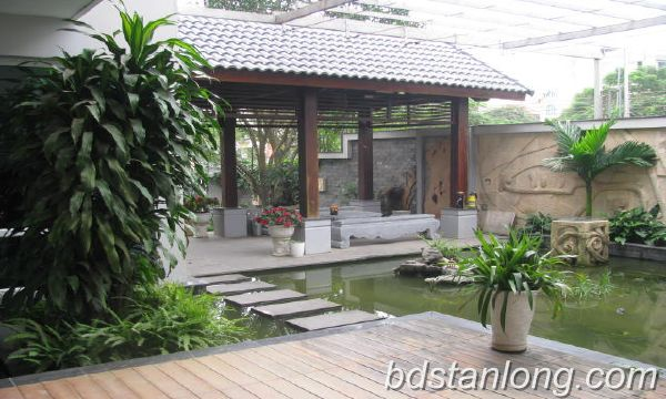 Villa for rent in Vuon Dao, Tay Ho district, Hanoi