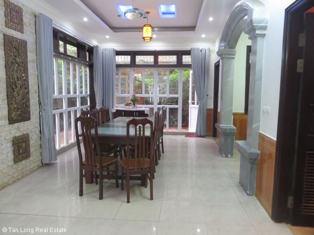 Well furnished 5 bedroom villa with garden for rent in D5 Ciputra, Tay Ho dist, Hanoi 4