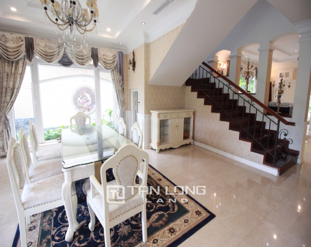 Well renovated and spacious 5 bedroom villa for rent in T3 zone Ciputra 6